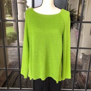 Lafayette 148 NY Open Weave Front Sweater Size M